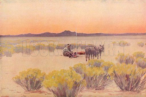 Arizona Afterglow,  picture, image, illustration