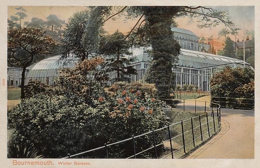 Winter Gardens, Bournemouth. Postcard, early 20th century.