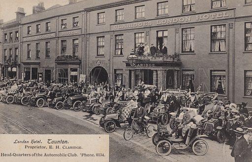 Claridge's London Hotel, Taunton. Postcard, early 20th century.