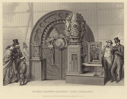 Holmes' electro-magnetic light apparatus, exhibited at the International Exhibition of 1862, London.