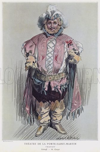 Paul Clerget in the title role in Falstaff