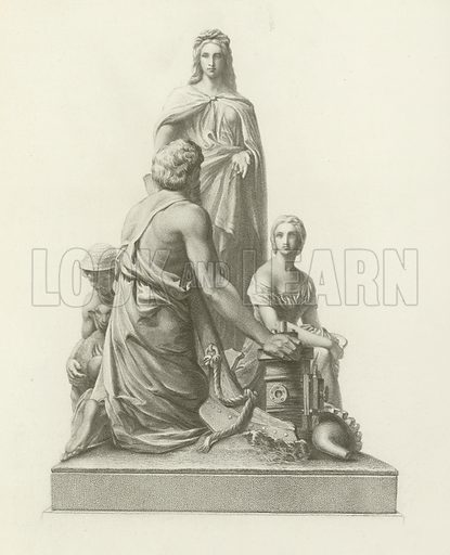 Agriculture. From the Albert Memorial, Hyde Park, London. Illustration for London edited by Charles Knight (Virtue, c 1875).