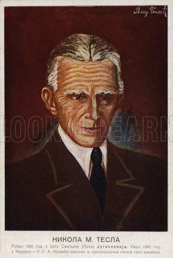 Nikola Tesla (1856–1943), Serbian-born American inventor, engineer and physicist.