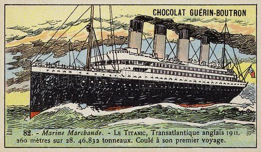 Titanic, British transatlantic liner, 1911