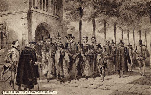Shakespeare's christening at Stratford on Avon