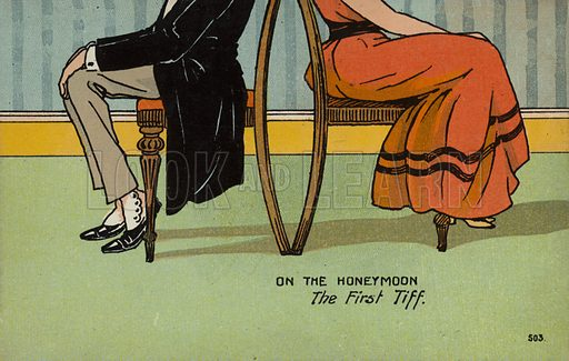 On The Honeymoon, The First Tiff
