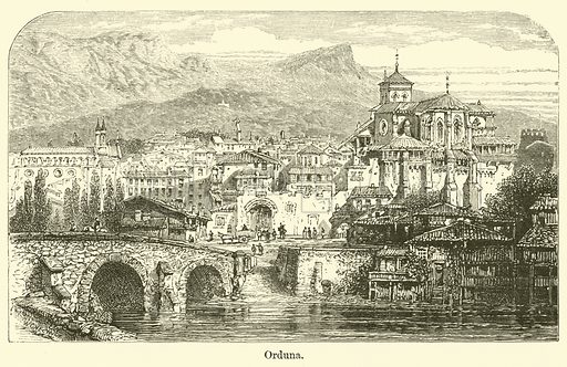 Orduna. Illustration for The Gallery of Geography by Thomas Milner (William Mackenzie, c 1880).