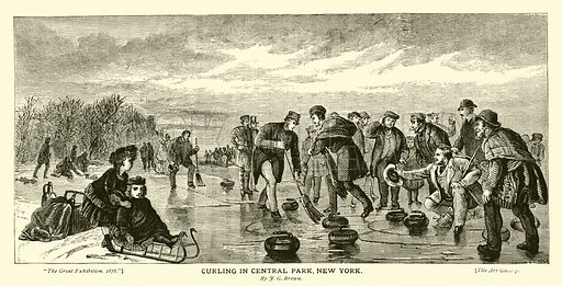 Curling in Central Park, New York, by JG Brown