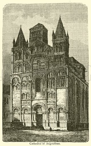 Cathedral of Angouleme. Illustration for Wonders of Architecture by M Lefevre and R Donald (Scribner, 1872).