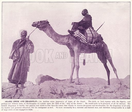 Arabic Sheik and Dragoman. Illustration for Portfolio of the World's Photographs introduced by James P Boyd (Manufacturers' Book Company, c 1890).