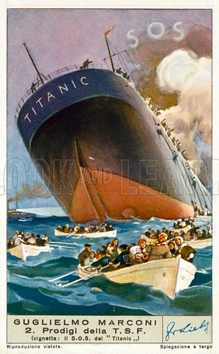The Titanic, picture, image, illustration