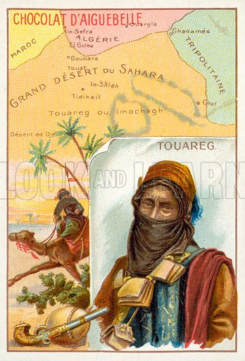 Tuareg. French educational card, late 19th or early 20th century.