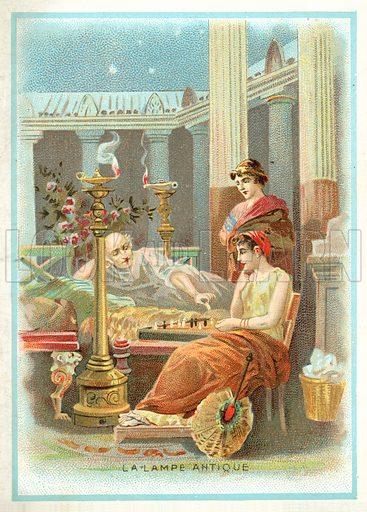 Oil Lamps In Ancient Times Look And Learn History Picture Library
