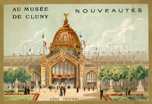 Central Dome, Exposition Universelle, Paris, 1889. French educational card, late 19th or early 20th century.