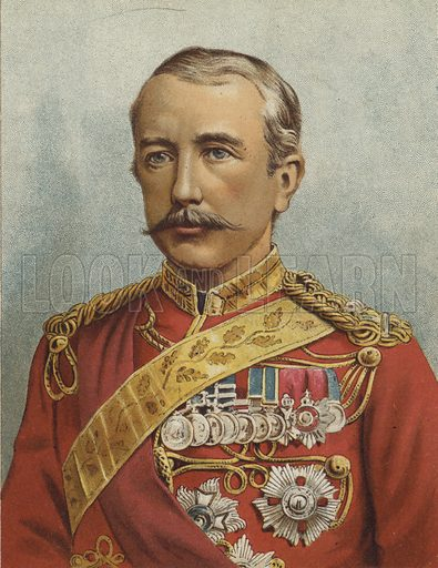 General Lord Wolseley. Illustration for The Boy's Own Paper, 1885.