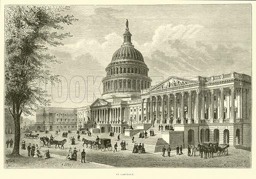 Le Capitole. Illustration for Promenade autour du Monde 1871 by M Le Baron de Hubner (Hachette, 5th edn, 1877).
