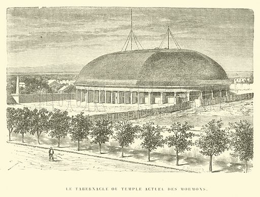 Le Tabernacle ou Temple Actuel des Mormons. Illustration for Promenade autour du Monde 1871 by M Le Baron de Hubner (Hachette, 5th edn, 1877).