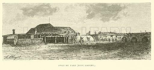 Port de Taku, Rive Gauche. Illustration for Promenade autour du Monde 1871 by M Le Baron de Hubner (Hachette, 5th edn, 1877).