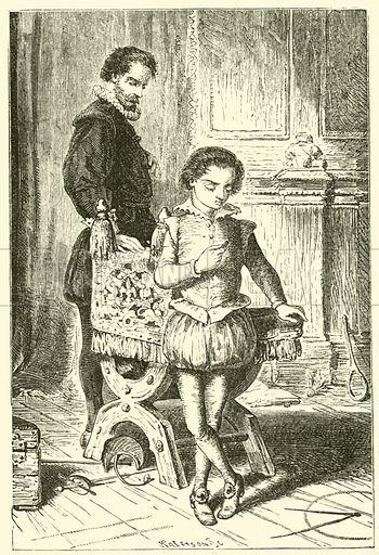 Blaise Pascal, as a boy, discovering mathematics and geometry in the nursery