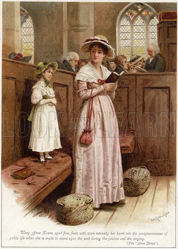 Mary Anne Evans (ie George Eliot), aged five, feels with more intensity her burst into the conspicuousness of public life.