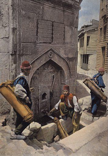 Porteurs D'Eau A Constantinople. Illustration for Autour Du Monde (L Boulanger, c 1900).