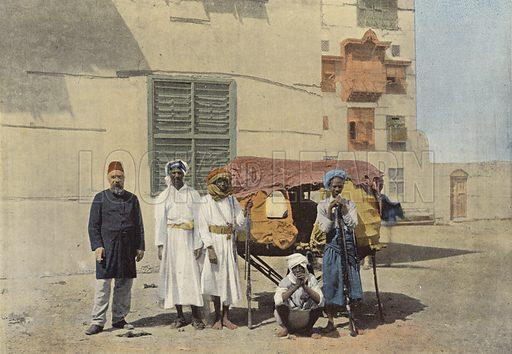 Djeddah, Palanquin Pour Les Pelerins De La Mecque. Illustration for Autour Du Monde (L Boulanger, c 1900).