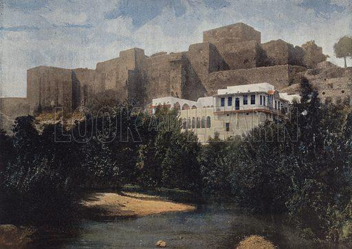 Tripoli, Le Chateau. Illustration for Autour Du Monde (L Boulanger, c 1900).