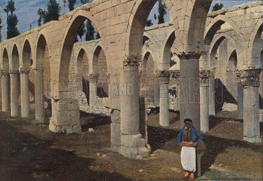 Baalbeck, Mosquee De Saladin. Illustration for Autour Du Monde (L Boulanger, c 1900).
