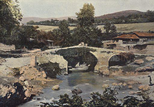 Ancien Pont De Pierre A Istib. Illustration for Autour Du Monde (L Boulanger, c 1900).
