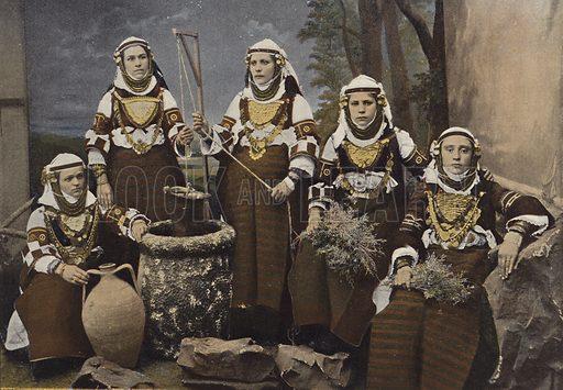 Groupe De Femmes Bulgares. Illustration for Autour Du Monde (L Boulanger, c 1900).
