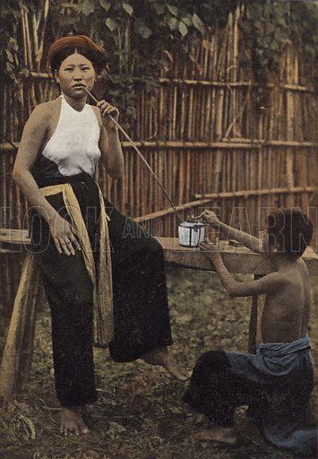 Femme Fumant De L'Opium. Illustration for Autour Du Monde (L Boulanger, c 1900).