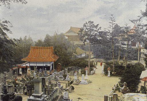 Le Cimetiere Kurodani A Kioto, Tombes Sculptees. Illustration for Autour Du Monde (L Boulanger, c 1900).