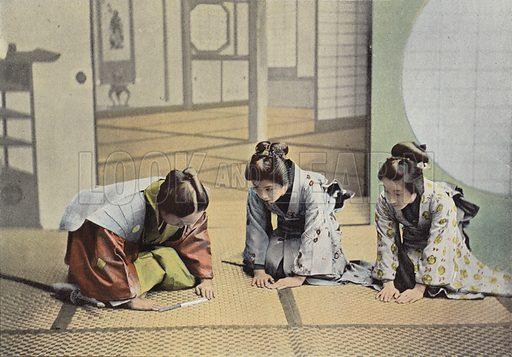 Visite De Ceremonie Au Japon. Illustration for Autour Du Monde (L Boulanger, c 1900).