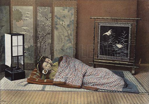 Chambre A Coucher Au Japon. Illustration for Autour Du Monde (L Boulanger, c 1900).