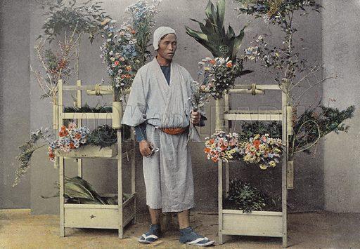 Un Marchand De Fleurs Au Japon. Illustration for Autour Du Monde (L Boulanger, c 1900).