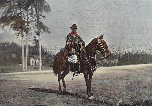 Un Gaucho A Rio Grande Do Sul. Illustration for Autour Du Monde (L Boulanger, c 1900).