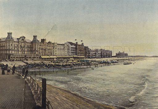Ostende, La Digue De Mer. Illustration for Autour Du Monde (L Boulanger, c 1900).