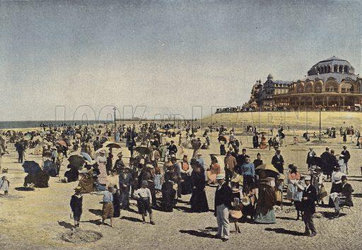 Ostende, La Plage Et Le Casino. Illustration for Autour Du Monde (L Boulanger, c 1900).