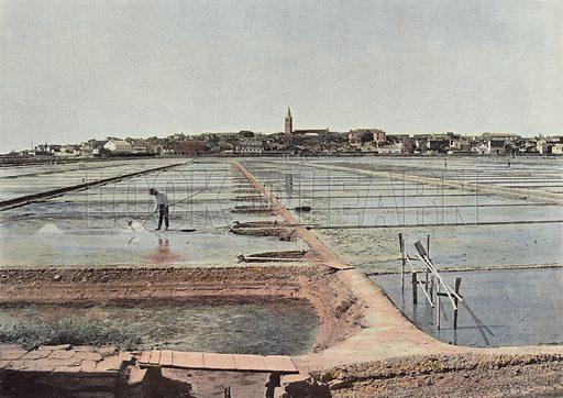Les Salines De Capo D'Istria. Illustration for Autour Du Monde (L Boulanger, c 1900).