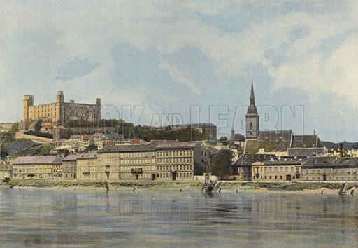 Presbourg, Vue Generale. Illustration for Autour Du Monde (L Boulanger, c 1900).