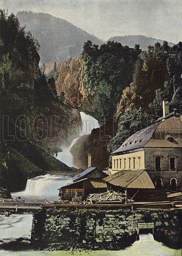 Pont Romain Pres De Golling. Illustration for Autour Du Monde (L Boulanger, c 1900).