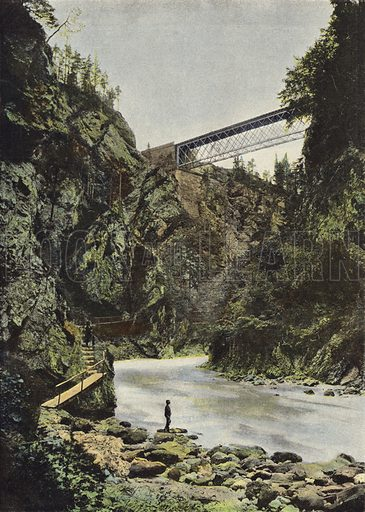 Tarvis, Pont Sur La Gailitz. Illustration for Autour Du Monde (L Boulanger, c 1900).