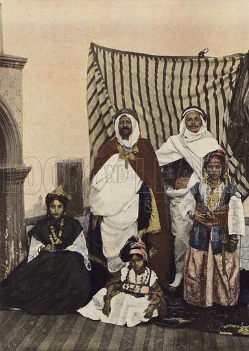 Kaid Et Sa Famille. Illustration for Autour Du Monde (L Boulanger, c 1900).