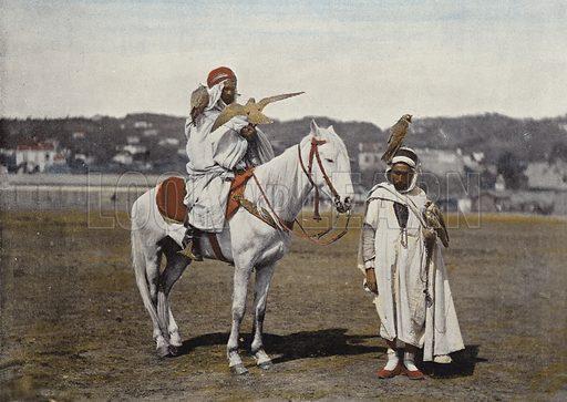 La Chasse Au Faucon. Illustration for Autour Du Monde (L Boulanger, c 1900).