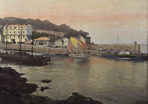 Le Bateau, A Vapeur Entre Dinard Saint-Malo Et Saint-Servan. Illustration for Autour Du Monde (L Boulanger, c 1900).