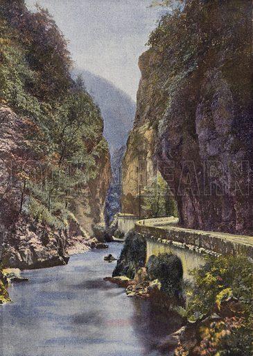 La Route De La Grande Chartreuse. Illustration for Autour Du Monde (L Boulanger, c 1900).