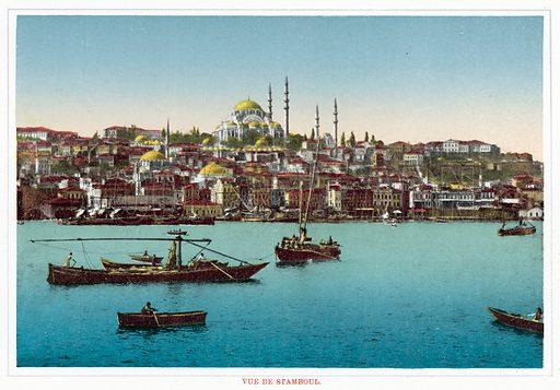 Vue De Stamboul. Illustration for Souvenir De Constantinople, circa 1910.