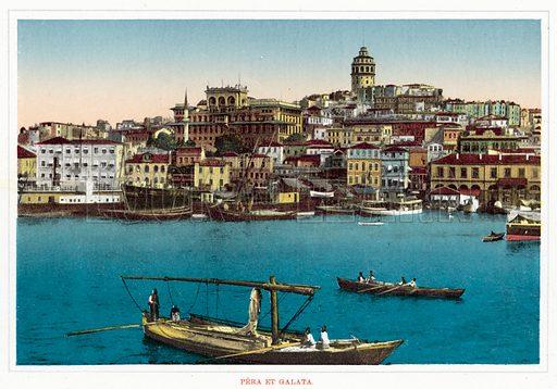Pera Et Galata. Illustration for Souvenir De Constantinople, circa 1910.