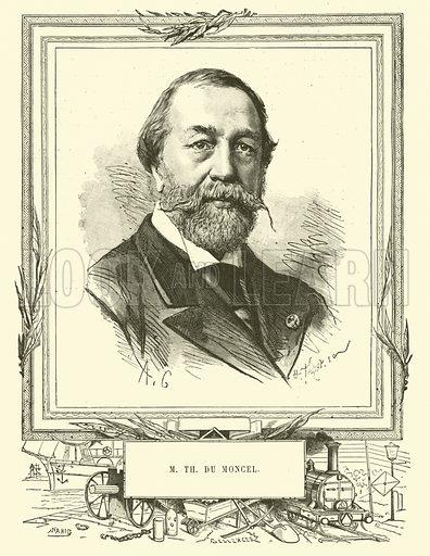 M Thomas Du Moncel. Illustration for Les Nouvelles Conquetes De La Science, L'Electricite, by Louis Figuier (Librarie Illustree, Marpon & Flammarion, c 1880).