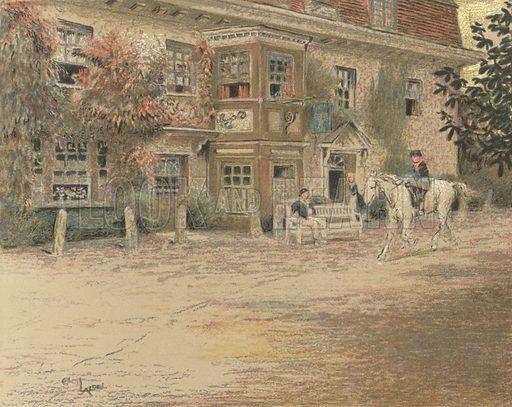 The Anchor Inn, Liphook. Illustration for Old Inns by Cecil Aldin (William Heinemann, 1921).